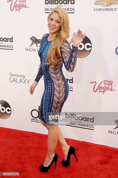 Singer Shakira arrives at the 2014 Billboard Music Awards at the MGM Grand Garden Arena on May 18 2014 in Las Vegas Nevada