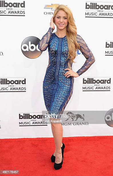 Singer Shakira arrives at the 2014 Billboard Music Awards at the MGM Grand Hotel and Casino on May 18 2014 in Las Vegas Nevada