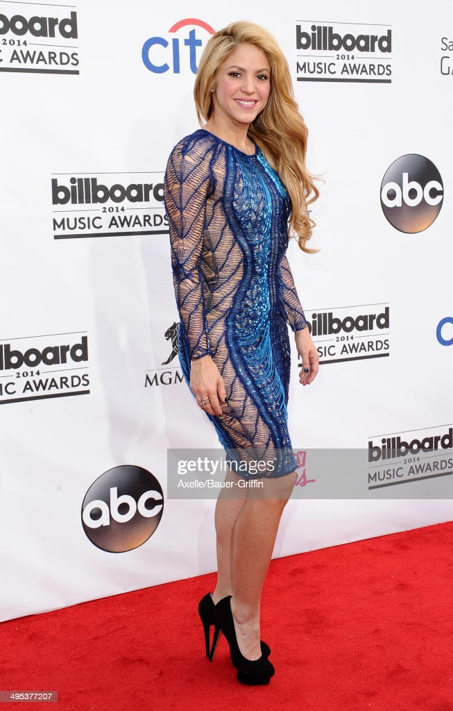 Singer Shakira arrives at the 2014 Billboard Music Awards at the MGM Grand Garden Arena on May 18, 2014 in Las Vegas, Nevada.