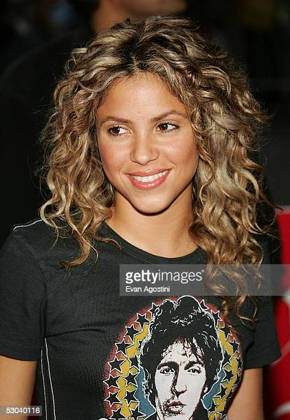 Singer Shakira arrives at Virgin Megastore Times Square to promote her new CD 'Fijacion Oral' on June 8 2005 in New York City