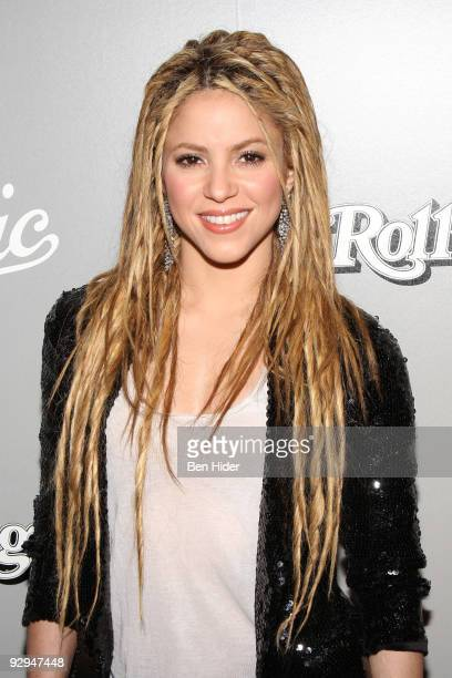 Singer Shakira attends Shakira's Rolling Stone cover celebration 'She Wolf' album launch party at The Bowery Hotel on November 9 2009 in New York City