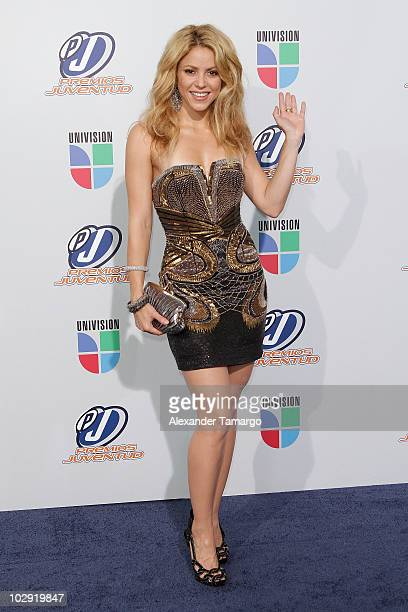 Singer Shakira attends the Univision Premios Juventud Awards at BankUnited Center on July 15 2010 in Miami Florida