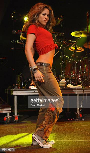 Singer Shakira performs at Z100's Jingle Ball 2005 at Madison Square Garden on December 16 2005 in New York City