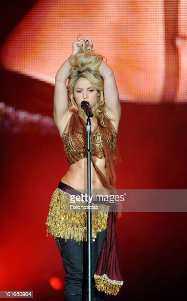 Singer Shakira performs during Rock in Rio Madrid 2010 at the Ciudad del Rock on June 5 2010 in Arganda del Rey Spain