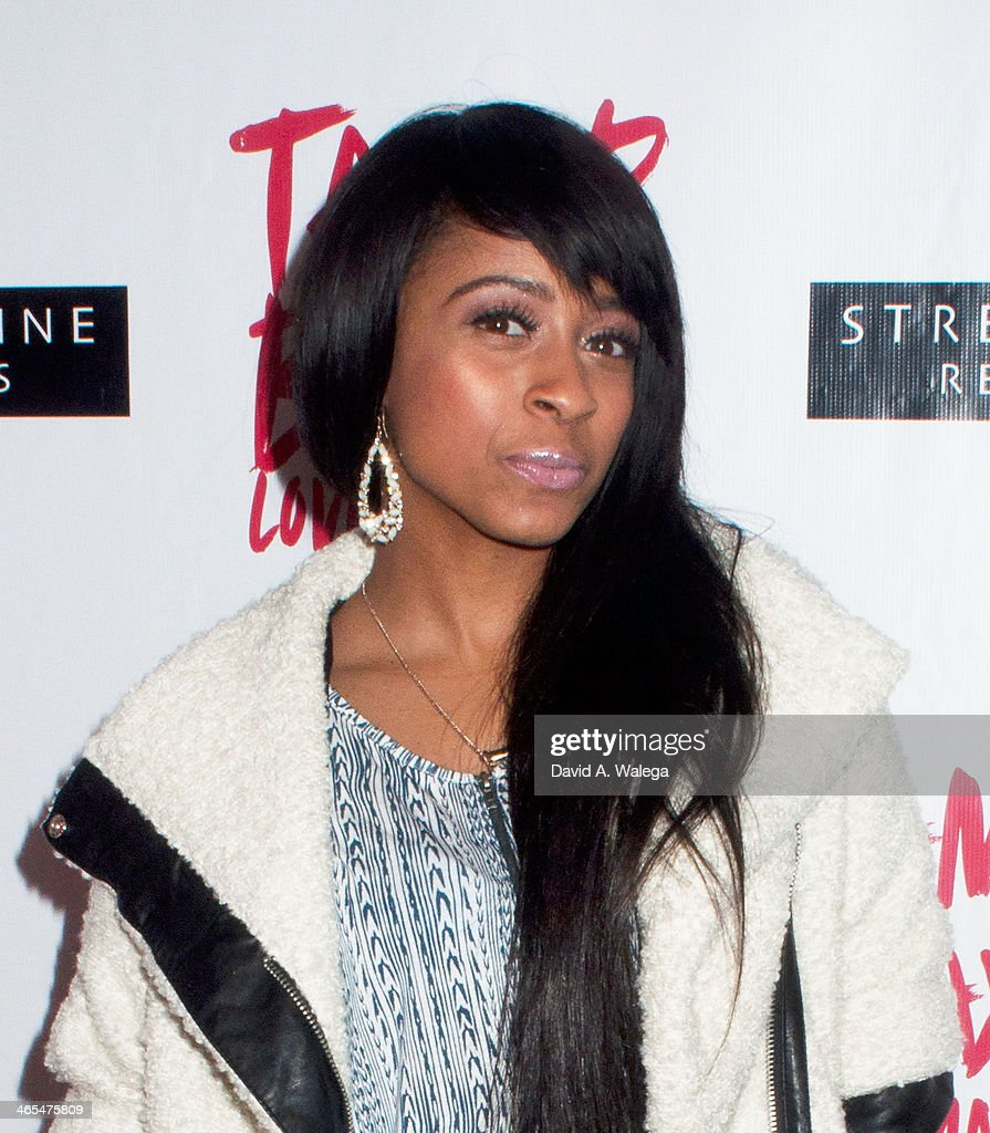 Singer Shanell arrives at Xen Lounge for a Night To Celebrate Tamar Braxton's GRAMMY Nominations on January 26, 2014 in Los Angeles, California.