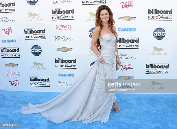Singer Shania Twain arrives at the 2013 Billboard Music Awards at the MGM Grand Garden Arena on May 19 2013 in Las Vegas Nevada