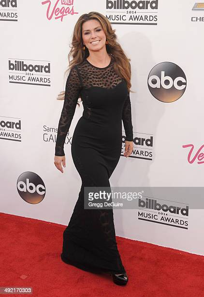 Singer Shania Twain arrives at the 2014 Billboard Music Awards at the MGM Grand Garden Arena on May 18 2014 in Las Vegas Nevada