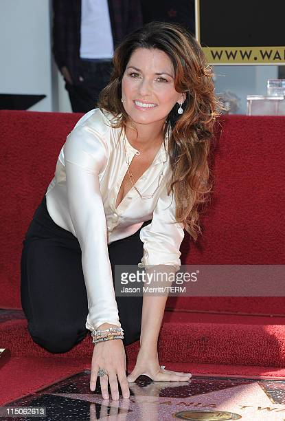 Singer Shania Twain is honored with the 2442nd Star on the Hollywood Walk Of Fame on June 2 2011 in Hollywood California