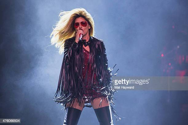 Singer Shania Twain performs in concert on her final tour at KeyArena on June 5 2015 in Seattle Washington