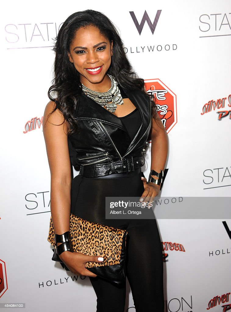 Singer Shanica Knowles arrives at W Hotel Station Club's Annual Emmy Party held at W Hollywood on August 23 2014 in Hollywood California