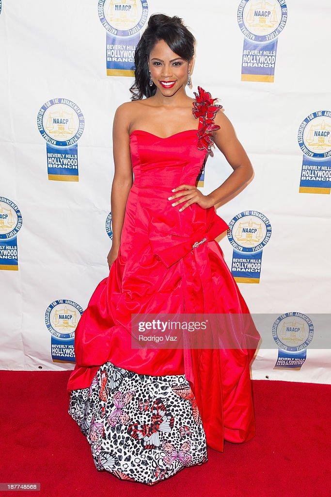 Singer <a gi-track='captionPersonalityLinkClicked' href=/galleries/search?phrase=Shanica+Knowles&family=editorial&specificpeople=4278770 ng-click='$event.stopPropagation()'>Shanica Knowles</a> attends the 23rd Annual NAACP Theatre Awards at Saban Theatre on November 11, 2013 in Beverly Hills, California.