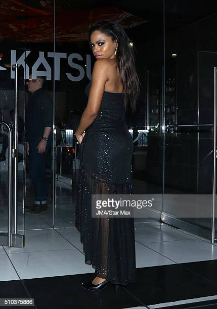 Singer Shanica Knowles is seen on February 14 2016 Los Angeles CA