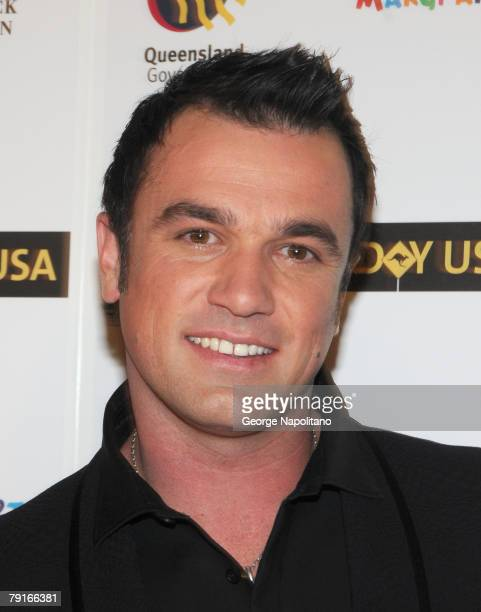 Singer Shannon Noll a 2007 MTV Australia VMA winner attends G'Day USA Australia Week 2008 on January 22 2008 at Jazz at Lincoln Center in New York...