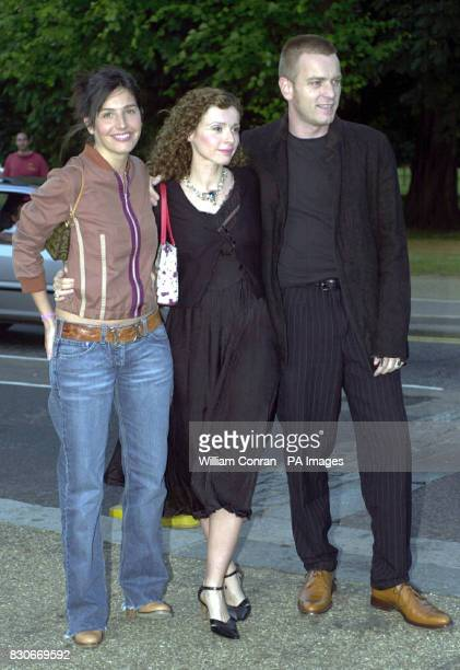 Singer Sharleen Spiteri from the band Texas with actor Ewan McGregor and his wife Eve arrive at the Serpentine Gallery Summer Party in London The...