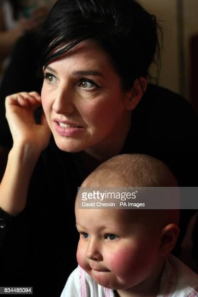 Singer Sharleen Spiteri with Bethanie Thomson aged 3 one of the children with cancer celebrating the 10th anniversary of CLIC Villa a home run by...
