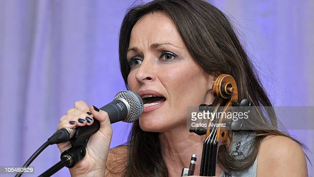 Singer Sharon Corr presents her new album 'Dream Of You' at the Villareal Hotel on October 14 2010 in Madrid Spain