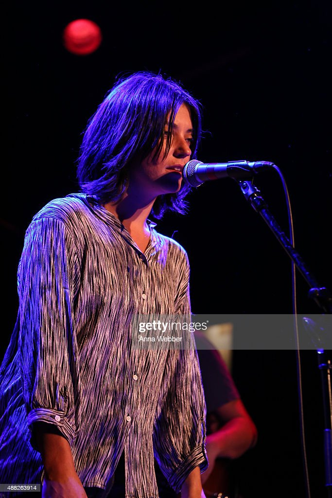 Singer Sharon Van Etten performs with the Cabin Down Below Band during the 2015 Neil Fest at Bowery Ballroom on September 14 2015 in New York City