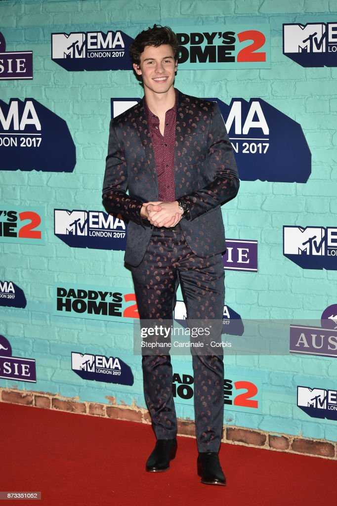 Singer Shawn Mendes attends the MTV EMAs 2017 at The SSE Arena, Wembley on November 12, 2017 in London, England.