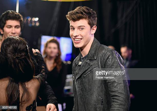 Singer Shawn Mendes attends the People's Choice Awards 2016 at Microsoft Theater on January 6 2016 in Los Angeles California