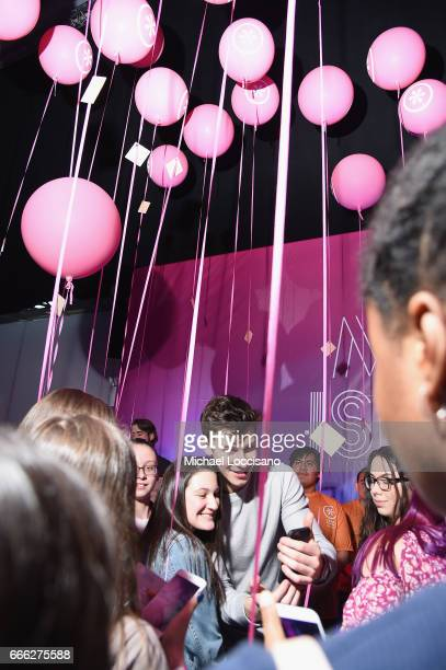 Singer Shawn Mendes hosts Camp IZZE to celebrate the launch of IZZE FUSIONS on April 8 2017 in Brooklyn New York
