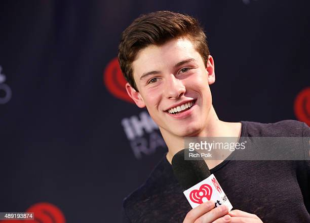 Singer Shawn Mendes is interviewed backstage at The Daytime Village during the 2015 iHeartRadio Music Festival at the Las Vegas Village on September...