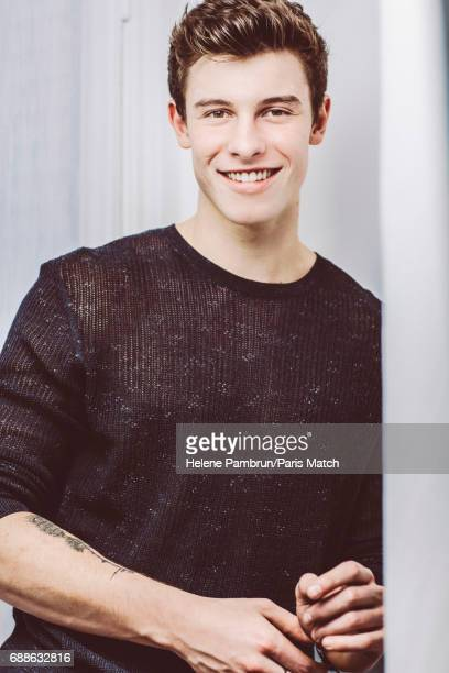 Singer Shawn Mendes is photographed for Paris Match on October 2 2016 in Paris France