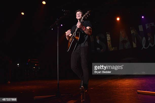 Singer Shawn Mendes performs onstage during the Island Records and Marriott Rewards presentation of ISLAND LIFE featuring Nick Jonas Shawn Mendes...