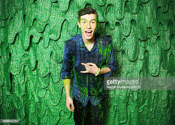 Singer Shawn Mendes poses backstage at Nickelodeon's 28th Annual Kids' Choice Awards at The Forum on March 28 2015 in Inglewood California