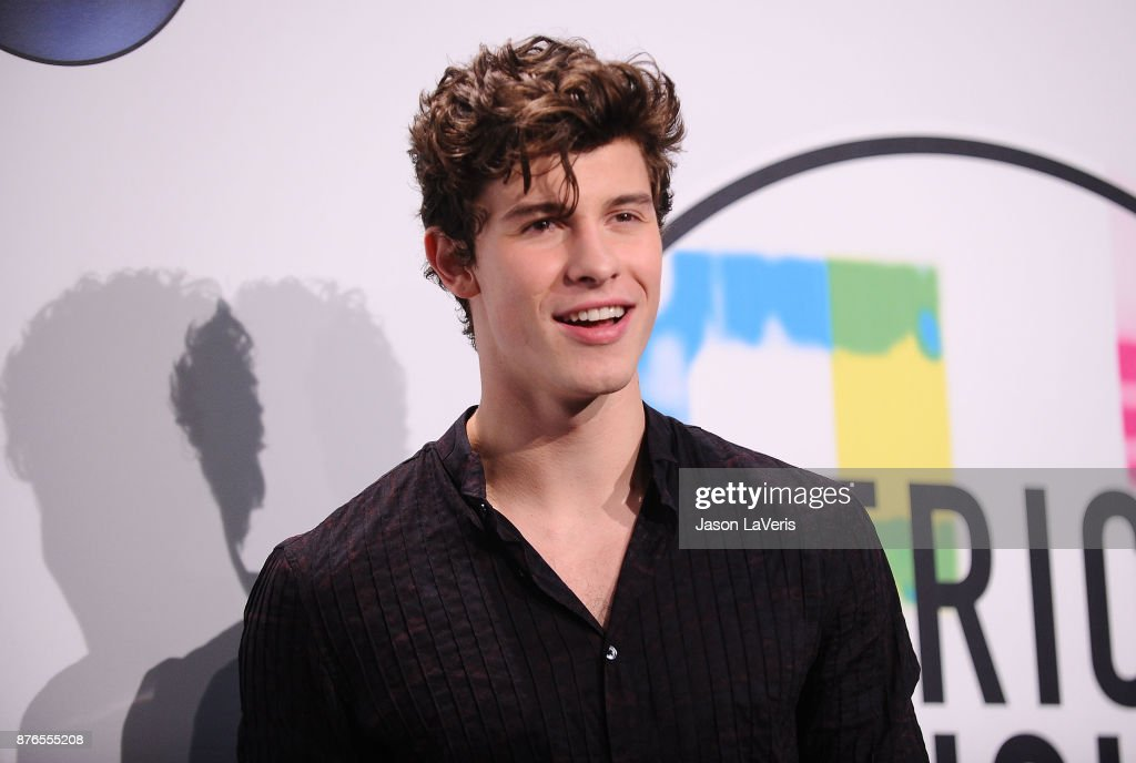 Singer Shawn Mendes poses in the press room at the 2017 American Music Awards at Microsoft Theater on November 19, 2017 in Los Angeles, California.