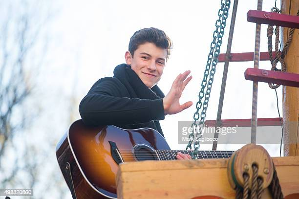 Singer Shawn Mendes the 89th Annual Macy's Thanksgiving Day Parade on November 26 2015 in New York City