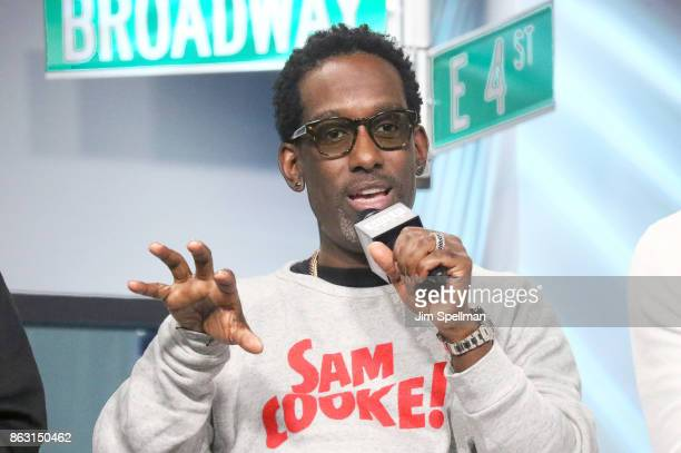 Singer Shawn Stockman of Boyz II Men attend Build to discuss their album 'Under the Streetlight' at Build Studio on October 19 2017 in New York City