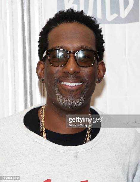 Singer Shawn Stockman of Boyz II Men discusses their album 'Under the Streetlight' at Build Studio on October 19 2017 in New York City