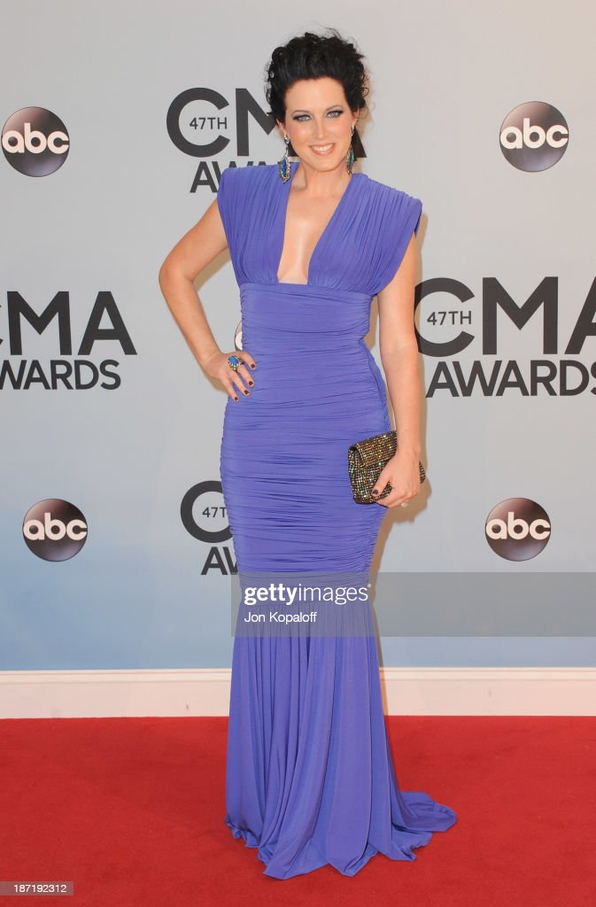 Singer Shawna Thompson of Thompson Square attends the 47th annual CMA Awards at the Bridgestone Arena on November 6 2013 in Nashville Tennessee
