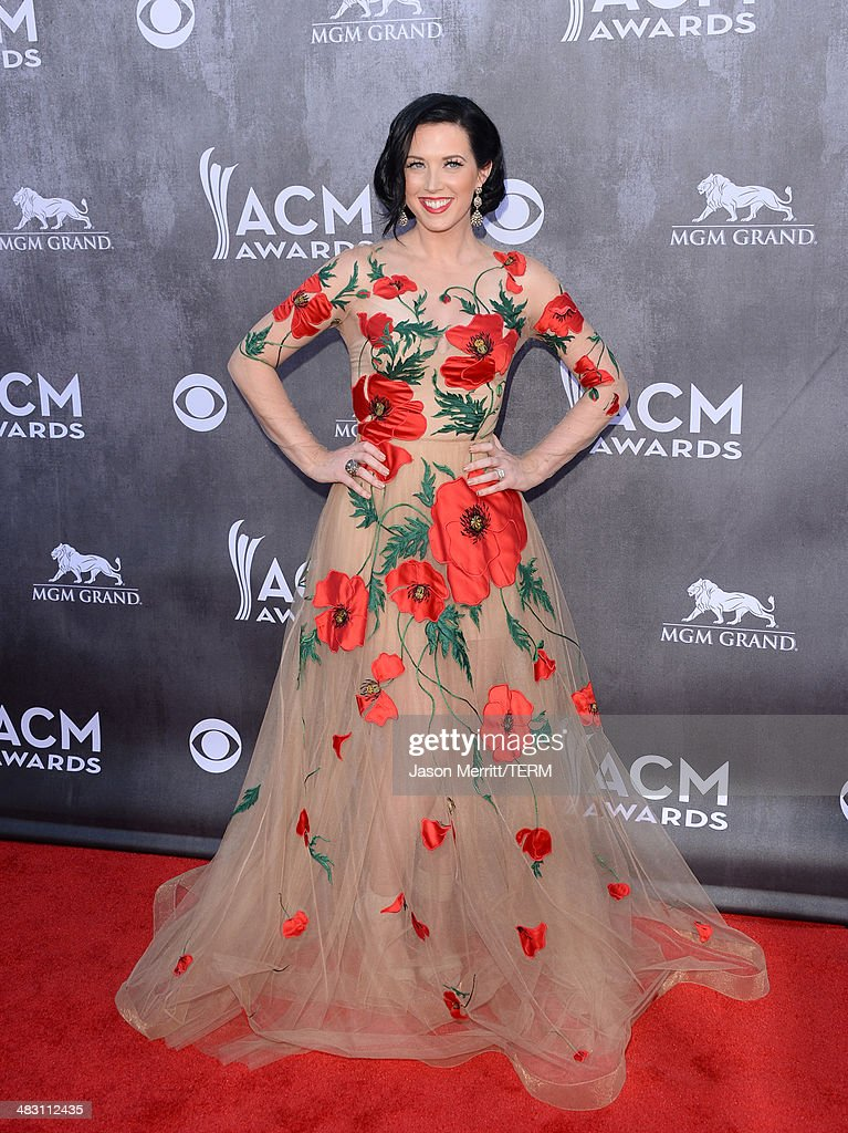 Singer Shawna Thompson of Thompson Square attends the 49th Annual Academy Of Country Music Awards at the MGM Grand Garden Arena on April 6 2014 in...