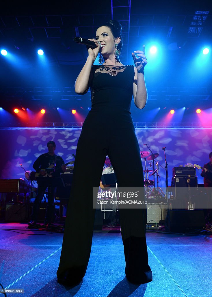 Singer Shawna Thompson of Thompson Square performs onstage at the All Star Jam during the 48th Annual Academy Of Country Music Awards at the MGM Grand Hotel/Casino on April 7, 2013 in Las Vegas, Nevada.