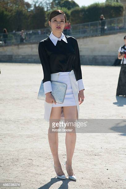 Singer Shay Lio on day 4 of Paris Collections Women on September 26 2014 in Paris France