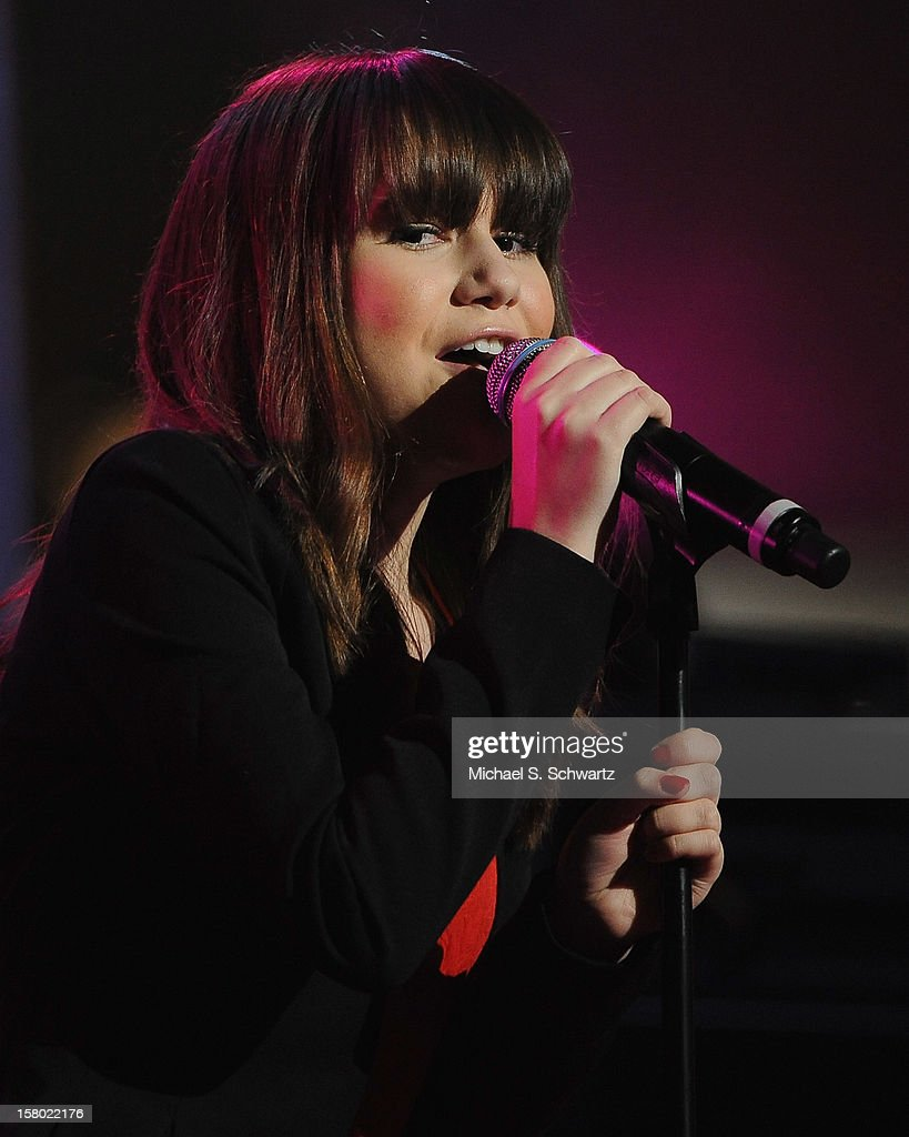 Singer Shealeigh performs during her appearance at Radio Disney's N.B.T. 'Next BIG Thing' Season 5 Finale Event at The Americana at Brand on December 8, 2012 in Glendale, California.
