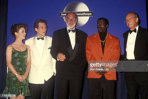 Singer Sheena Easton actor Christian Slater actor Sean Connery actor Wesley Snipes and playwright Neil Simon attend the Seventh Annual American...