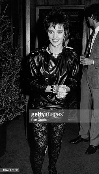 Singer Sheena Easton attends a party for Platinum and Gold Record Awards for album 'Private Heaven' on March 13 1985 at Chasen's Restaurant in...