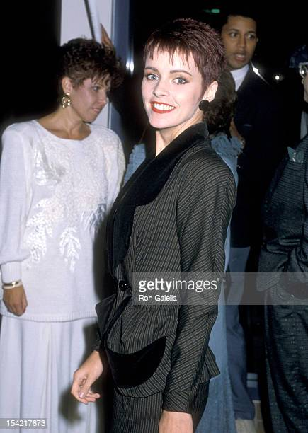 Singer Sheena Easton attends The Neil Bogart Memorial Fund Benefit on November 14 1986 at Hollywood Park Race Track in Inglewood California