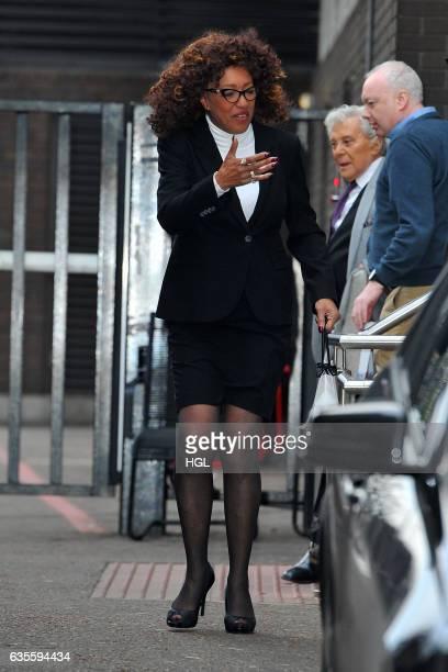 Singer Sheila Ferguson seen at the ITV Studios on February 16 2017 in London England