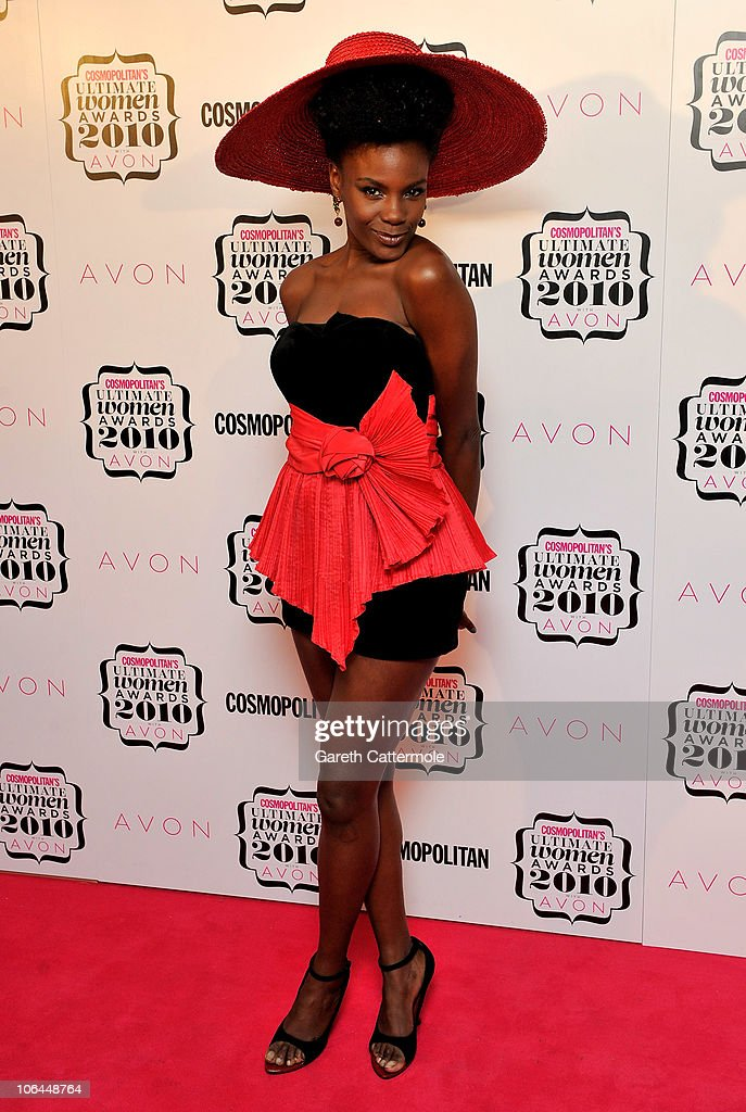 Singer Shingai Shoniwa arrives for the 'Cosmopolitan Ultimate Women Of The Year Awards 2010' at Banqueting House on November 2, 2010 in London, England.