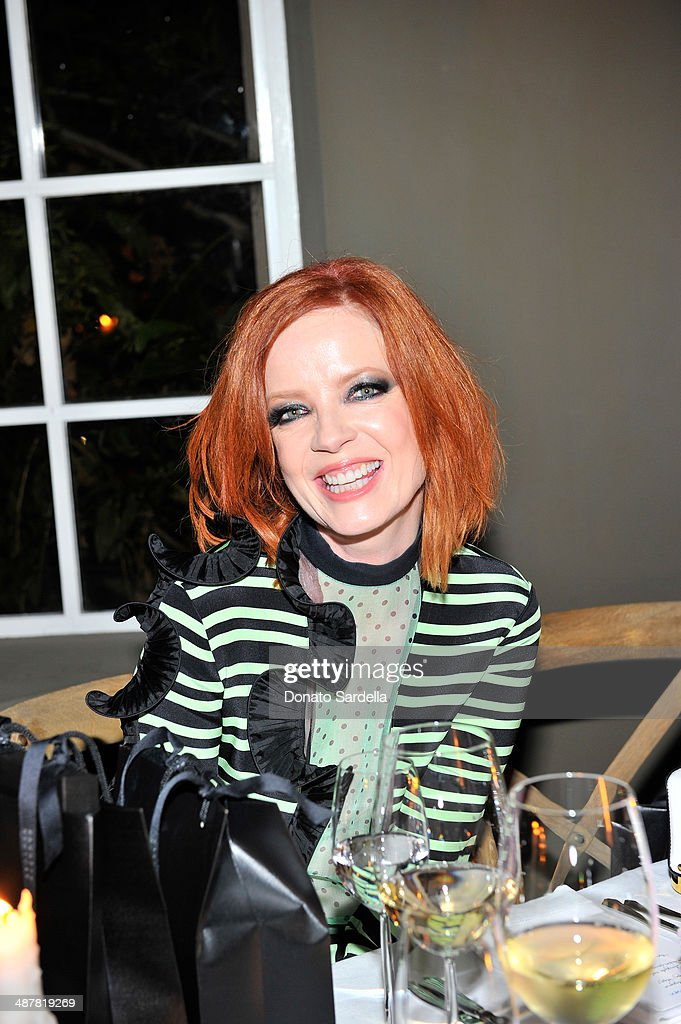 Singer Shirley Manson attends A private dinner In honor of Fausto Puglisi of Emanuel Ungaro hosted by Barneys New York at Chateau Marmont on May 1, 2014 in Los Angeles, California.