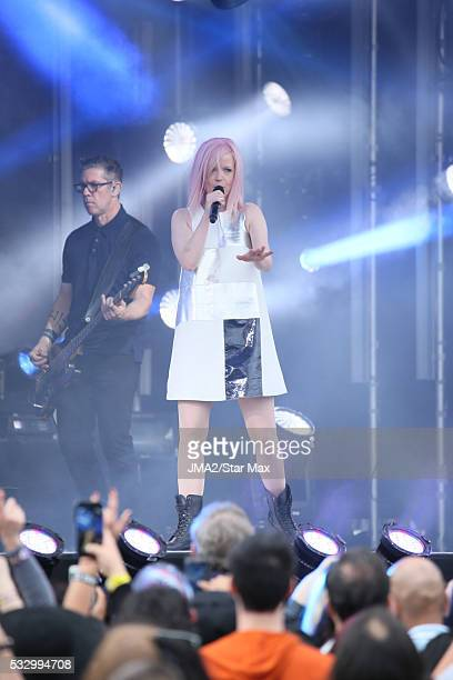 Singer Shirley Manson of Garbage is seen on May 19 2016 in Los Angeles CA
