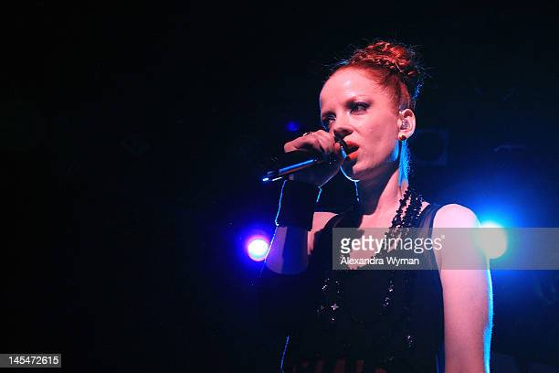 Singer Shirley Manson of Garbage performs onstage at NYLON and Garbage Celebrate the Annual June/July Music Issue held at The Roxy Theatre on May 30...