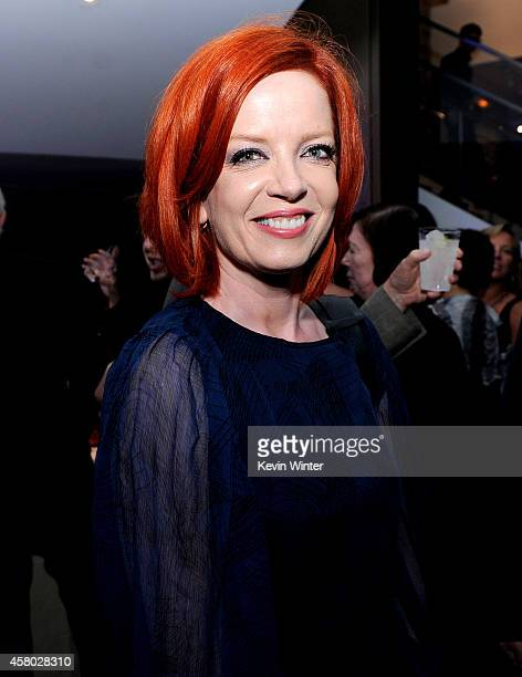 Singer Shirley Manson of Garbage poses at the after party for the premiere of Focus Features' 'The Theory Of Everything' at the Samuel Goldwyn...