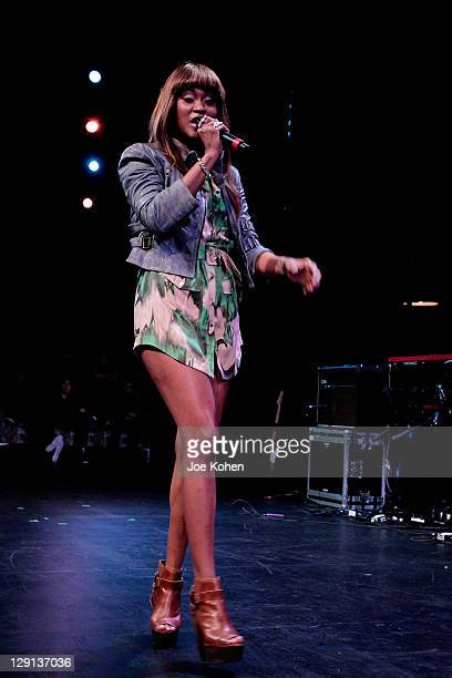 Singer Shontelle performs during GRAMMY Career Day sponsored by the GRAMMY Foundation at Pace University on May 18 2011 in New York City
