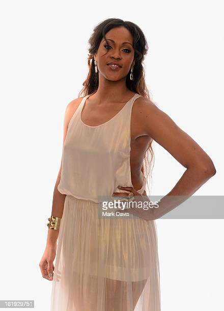 Singer Shontelle poses for a portrait in the TV Guide Portrait Studio at the 3rd Annual Streamy Awards at Hollywood Palladium on February 17 2013 in...