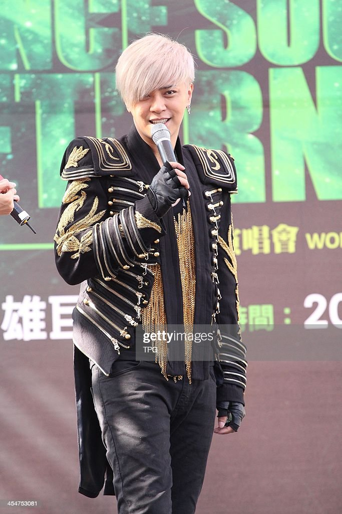 Singer Show Lo promotes his album Lion Roar on Sunday December 8,2013 in Taipei,China.