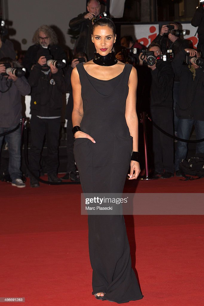 Singer Shy'm attends the 15th NRJ Music Awards at Palais des Festivals on December 14, 2013 in Cannes, France.
